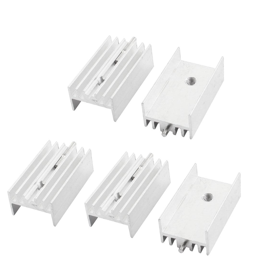 5Pcs 15mmx10mmx25mm Aluminium Radiator Fin Cooling Cooler Heatsink Heat Sink w Needle for PCB Board
