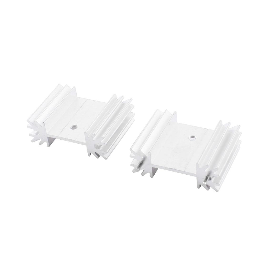 PCB Board Parts Aluminium Radiator Fin Cooling Cooler Heatsink Heat Sink 34mmx12mmx25mm 2Pcs + Needle