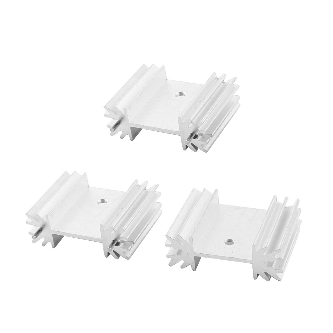 3Pcs 34x12x25mm Aluminium Heatsink Heat Dissipate Cooler Cooling Fin w Needle for PCB Board