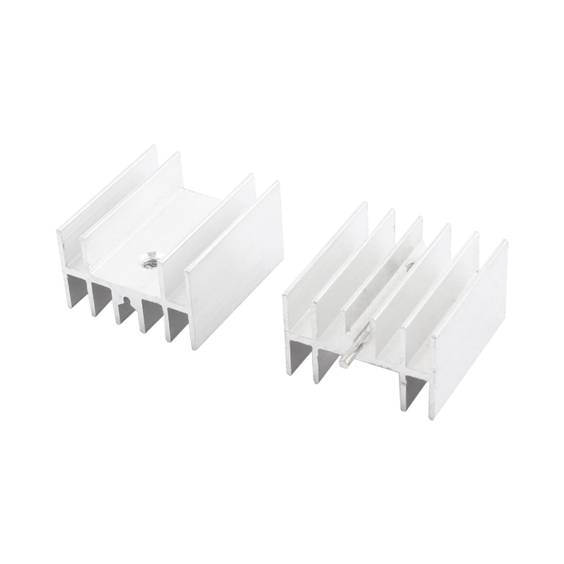 2Pcs 23mm x 16mm x 25mm Aluminium Screw Mount Radiator Fin Cooling Cooler Heatsink Heat Sink w Needle for PCB Board