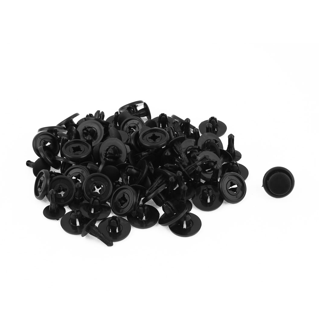 50 Pcs 14 x 7mm Hole Plastic Rivet Car Door Trim Panel Retainer Fastener Black