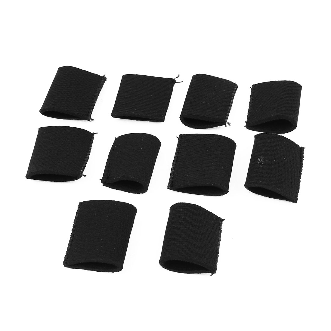 10 x Black Outdoor Sports Training Stretchy Finger Sleeve Guard
