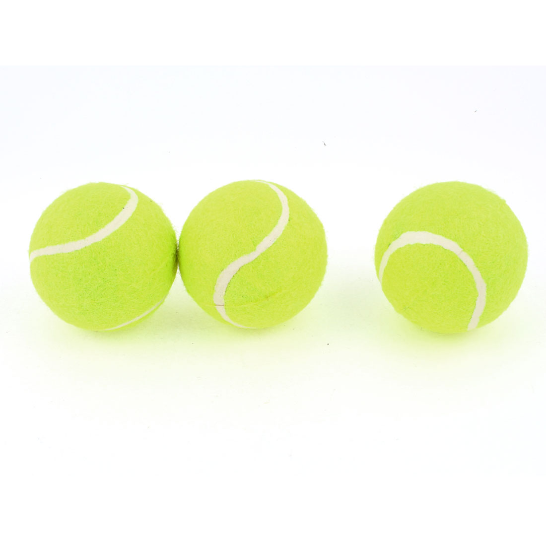 Sports Training Yellow Green 6cm Dia PU Foam Tennis Balls 3 Pcs
