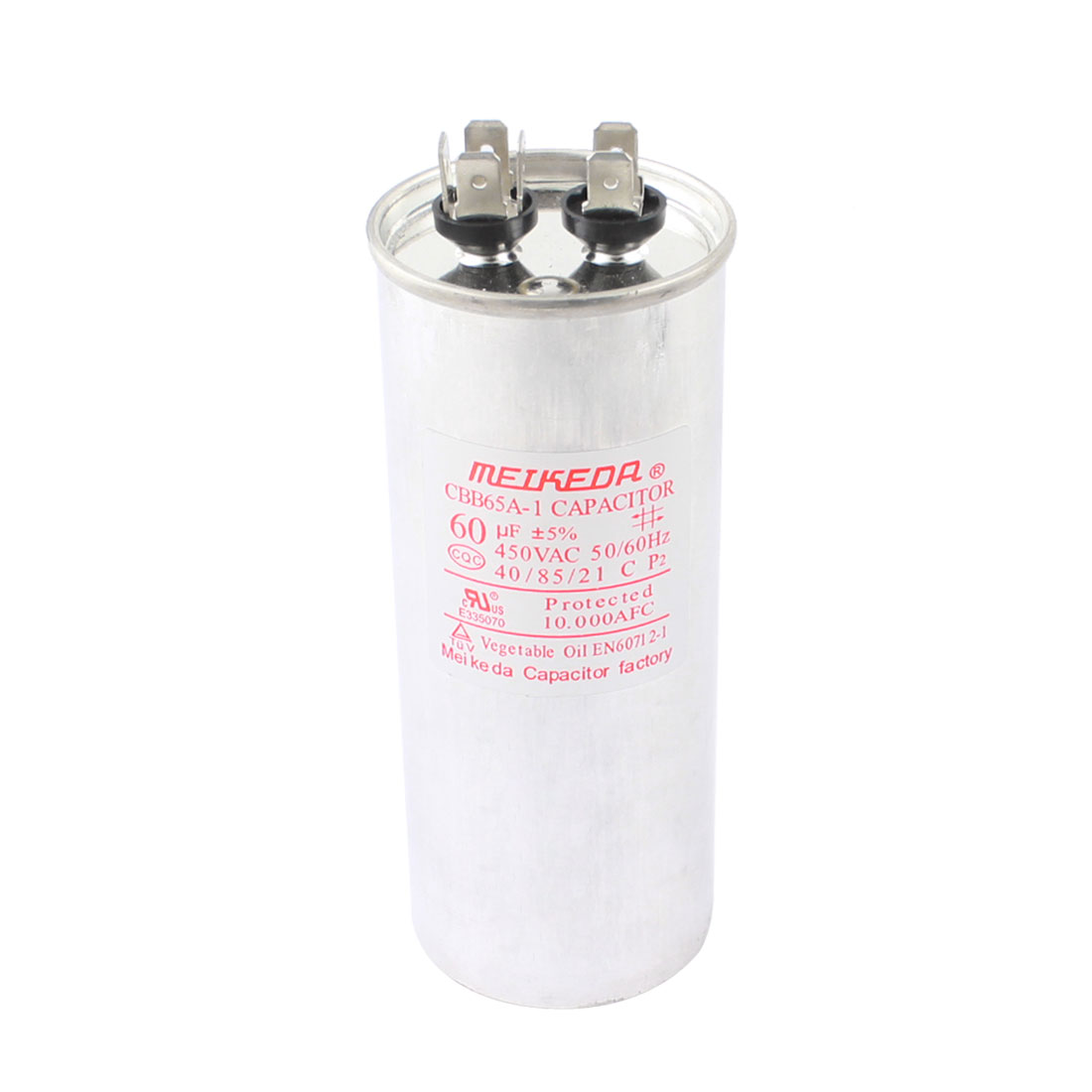 CBB65A-1 AC 450V 60uF Polypropylene Film Motor Run Capacitor for Air Conditioner