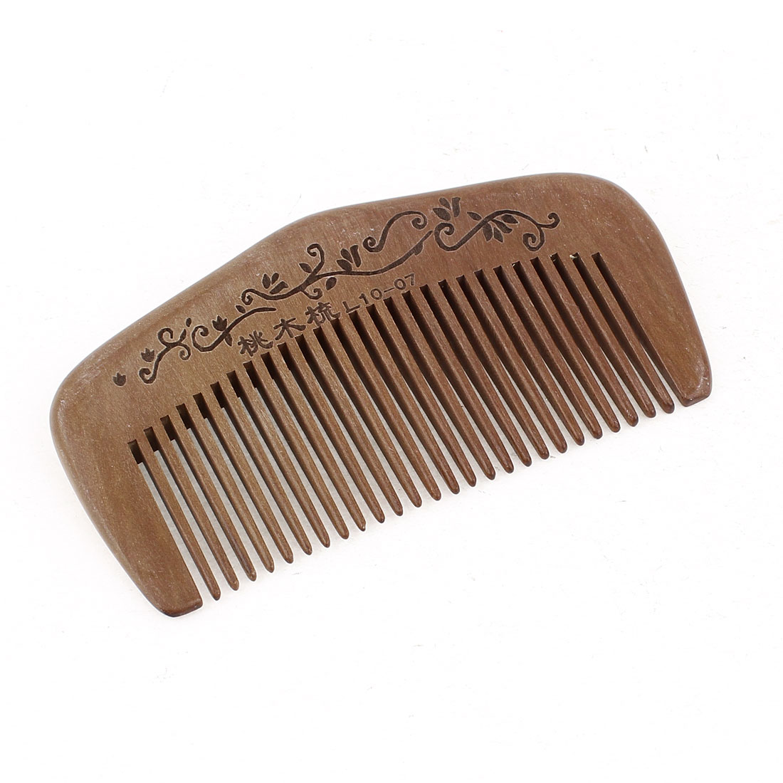 "4"" Length Handwork Natural Carved Wood Hair Care Comb Unisex"
