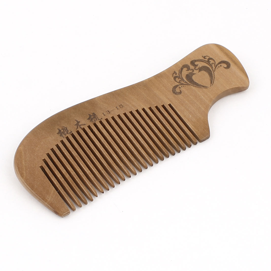 "4.9"" Length Handwork Natural Carved Wooden Bush Hair Care Comb"