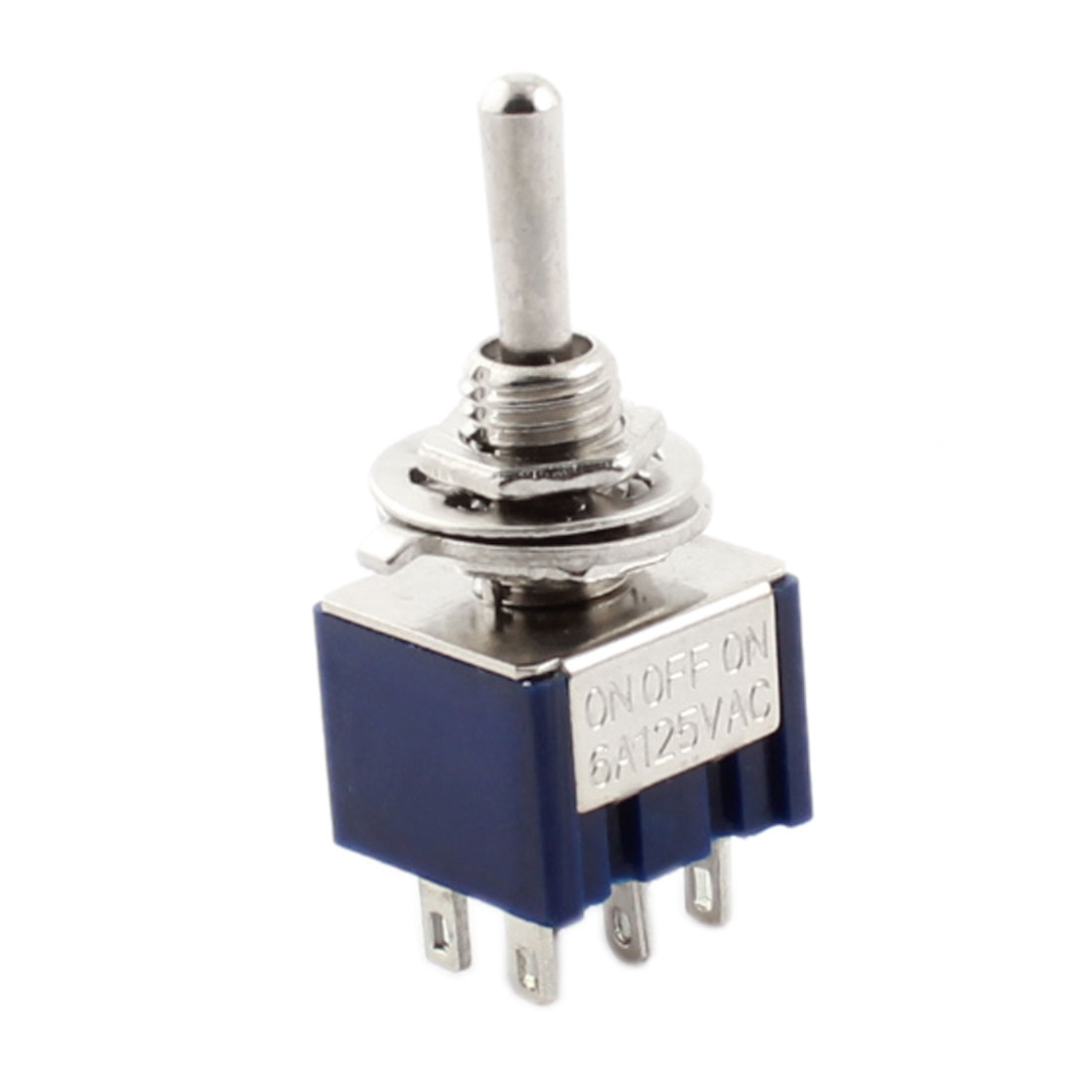 Blue AC 125V 6A DPDT On/Off/On 3Positions 6 Pin Latching Toggle Switch