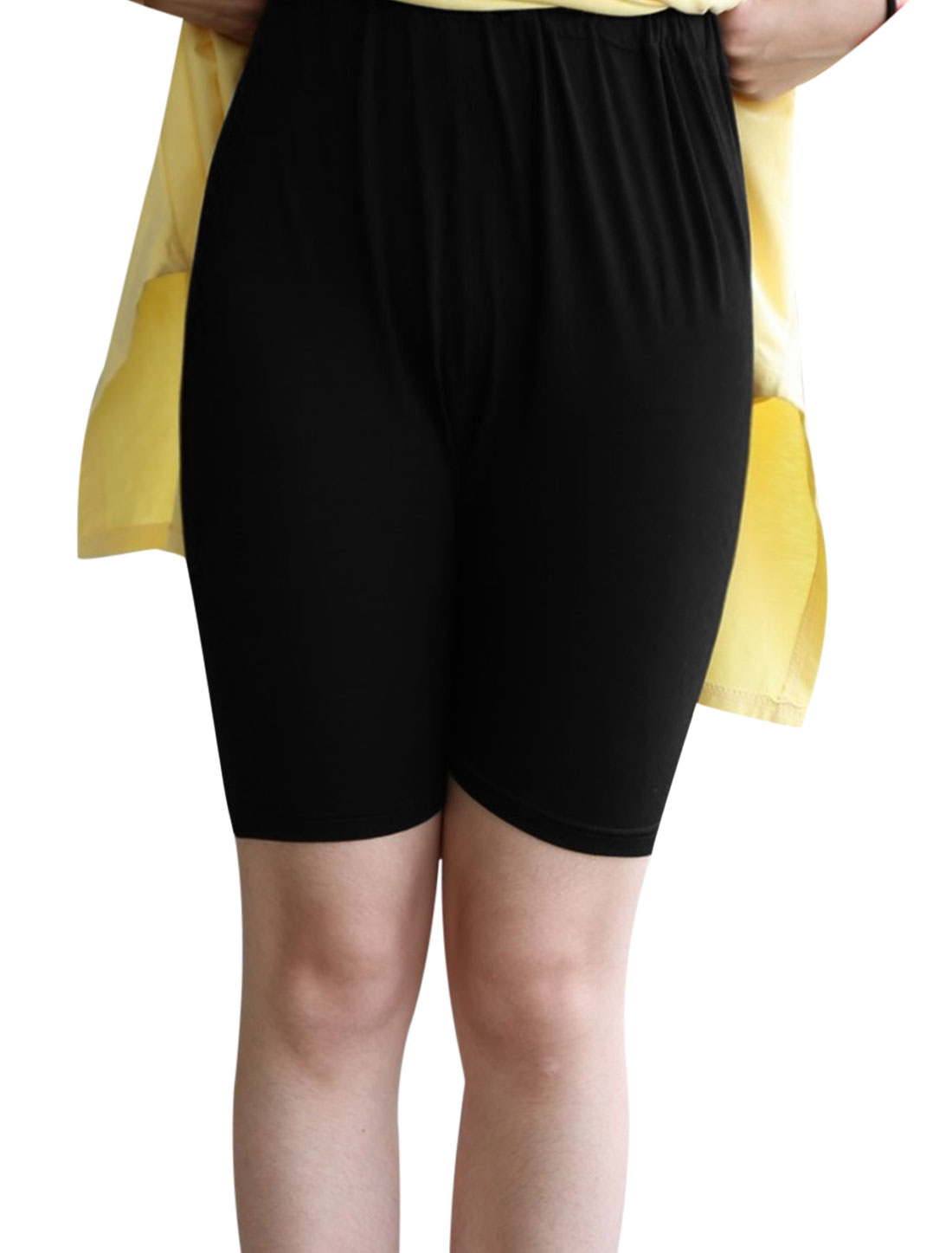 Cozy Fit Fashion Drawstring Button Adjustable Waist Shorts for Maternity Black XS