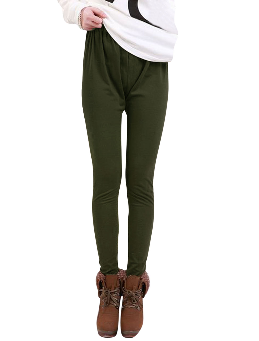 Motherhood Slim Fit Stretchy Waist Pure Design Leggings Army Green XS