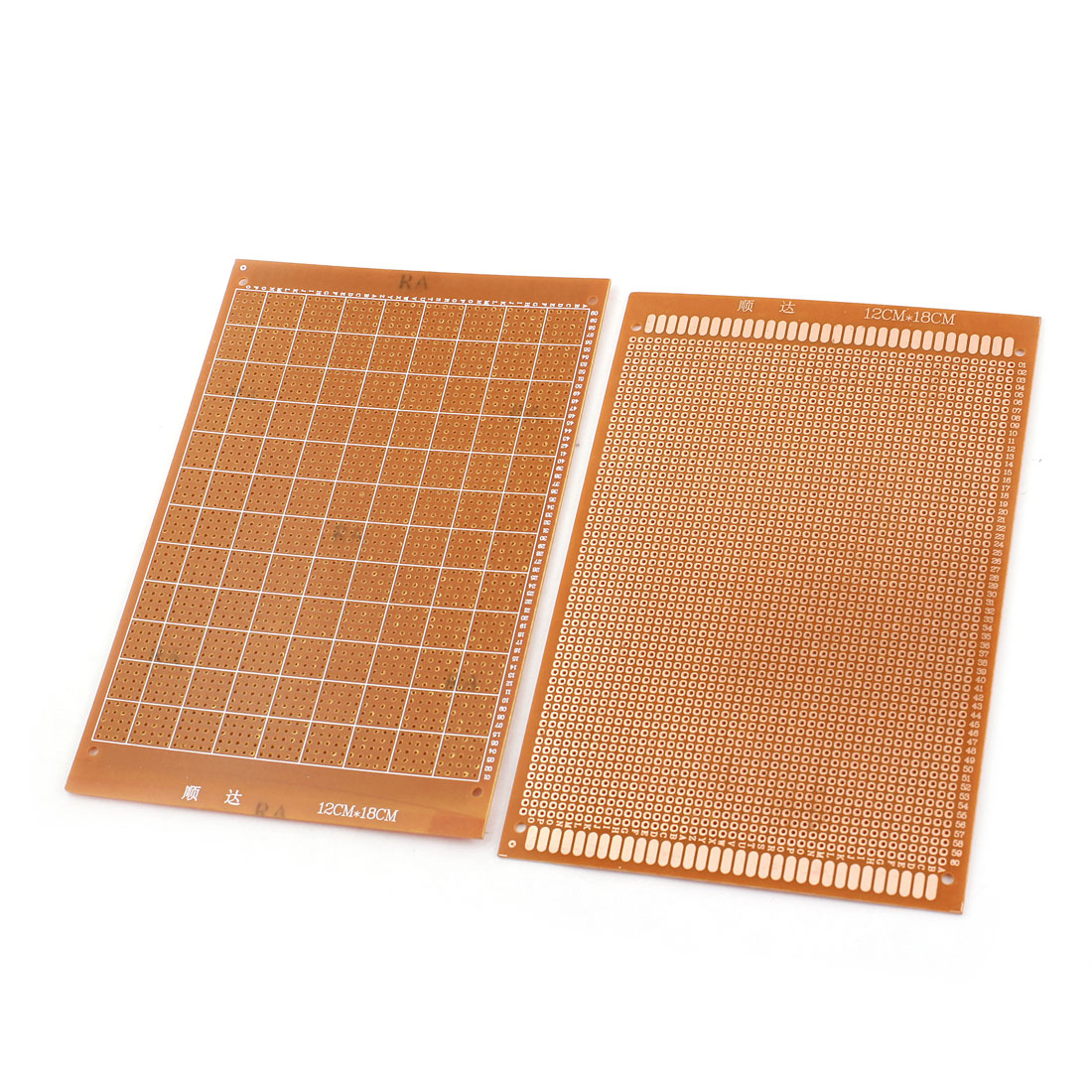 2 Pcs 12cm x 18cm Single Side Universal Prototype PCB Print Circuit Board Breadboard 2.54mm Spacing