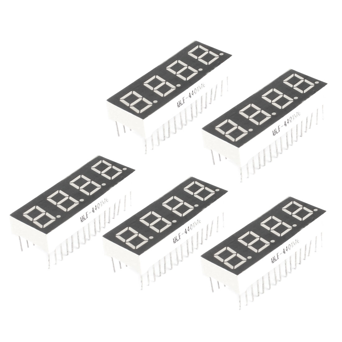 5Pcs 0.4-inch 4-Bit 7-Segment Rectangle Red LED Digital Display Common Cathode Tube