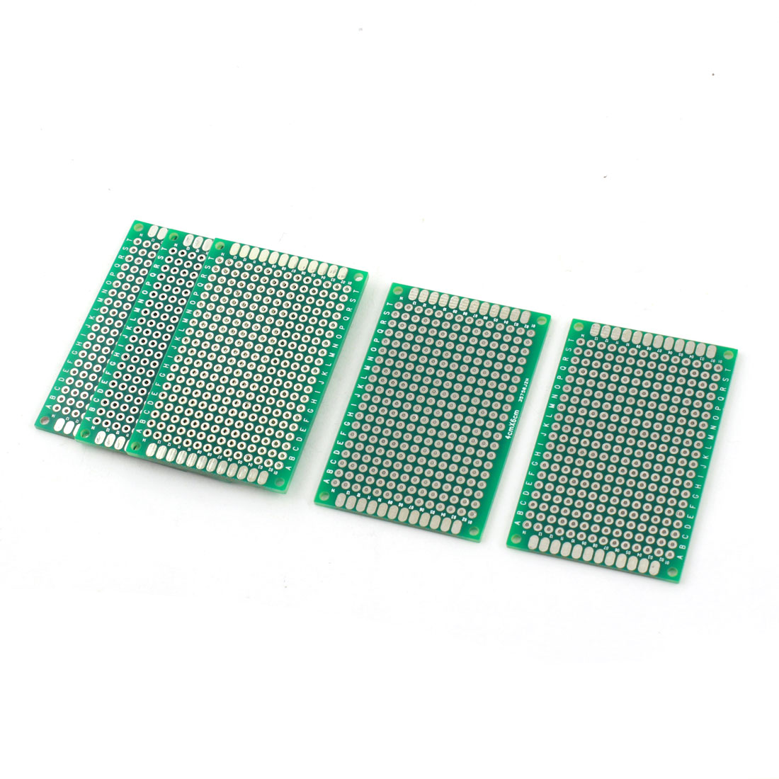 5Pcs 6cm x 4cm 2.54mm Pitch Two Side Tin Plated Universal Prototype PCB Printed Circuit Board