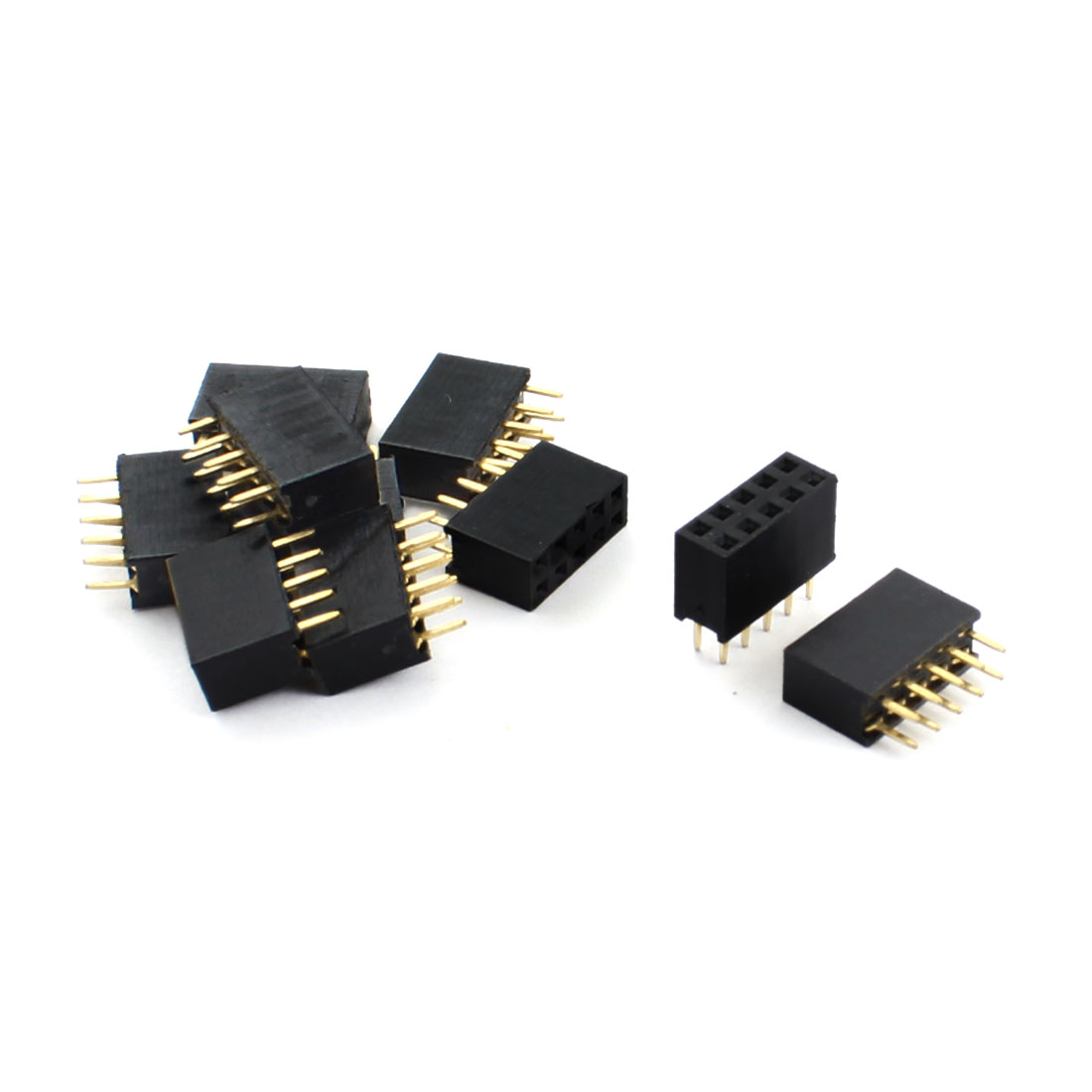 10 Pcs 2.54mm Pitch Double Rows DIP 2x5 10-Pin Female Pin Header Socket Connector Strip