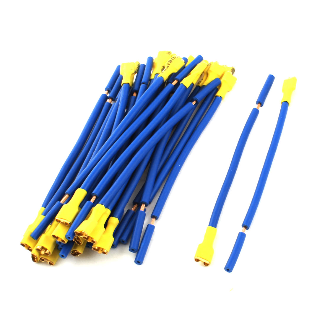 30Pcs Blue Yellow Female Terminal Plug Cable Wire Connector for Car Audio Speaker
