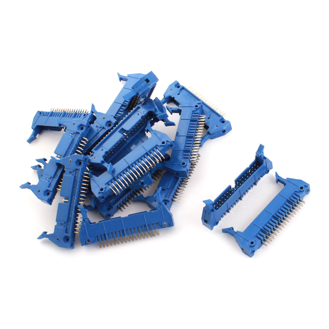 20PCS Blue 34 Pin Straight Latched Box Ejector Header Connector PCB