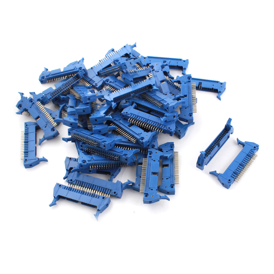 50PCS Blue 34 Pin Straight Latched Box Ejector Header Connector PCB