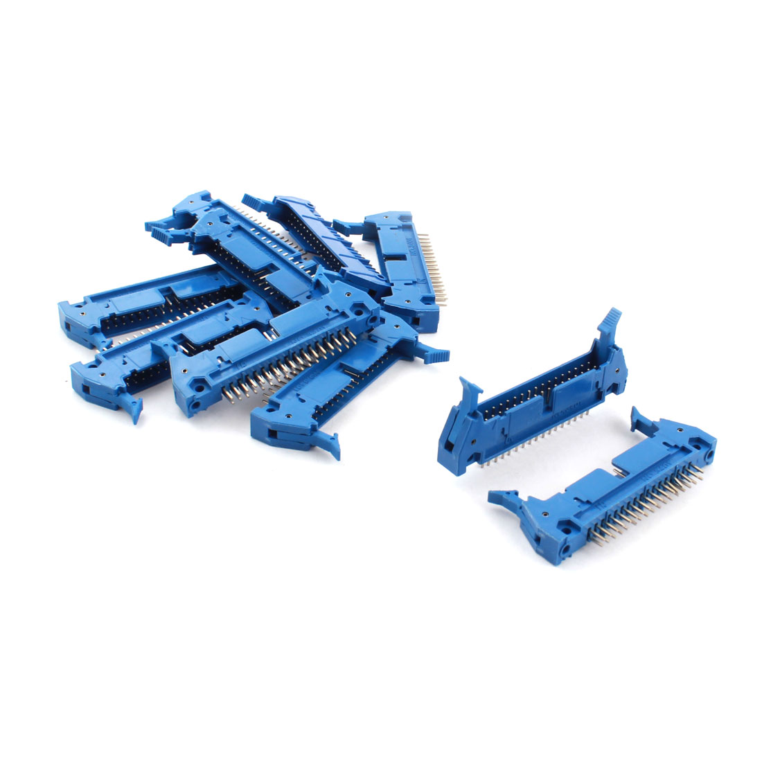 10PCS Blue 34 Pin Straight Latched Box Ejector Header Connector PCB