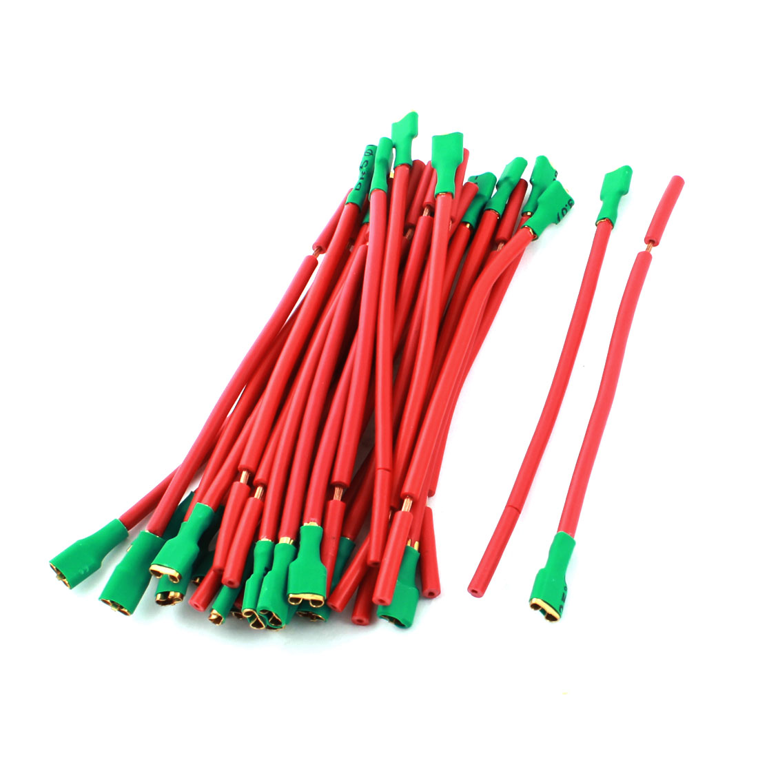 30Pcs Red Green Female Terminal Cable Wire Connector for Car Audio Speaker