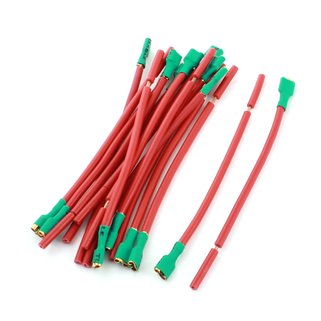 15Pcs Red Green Female Terminal Cable Wire Connector for Car Audio Speaker