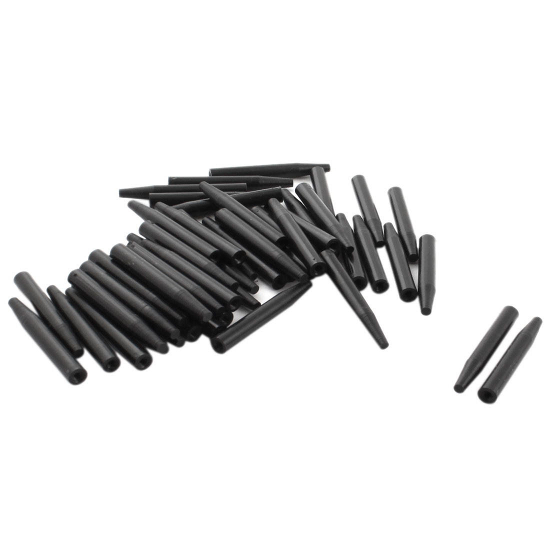 50Pcs 6x45mm PCB Test Fixture Hardware Parts Plate POM Stand Holder Fixed Rod Black