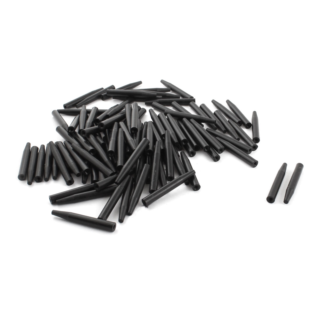 100Pcs 6x45mm PCB Test Fixture Hardware Parts Plate POM Stand Holder Fixed Rod Black