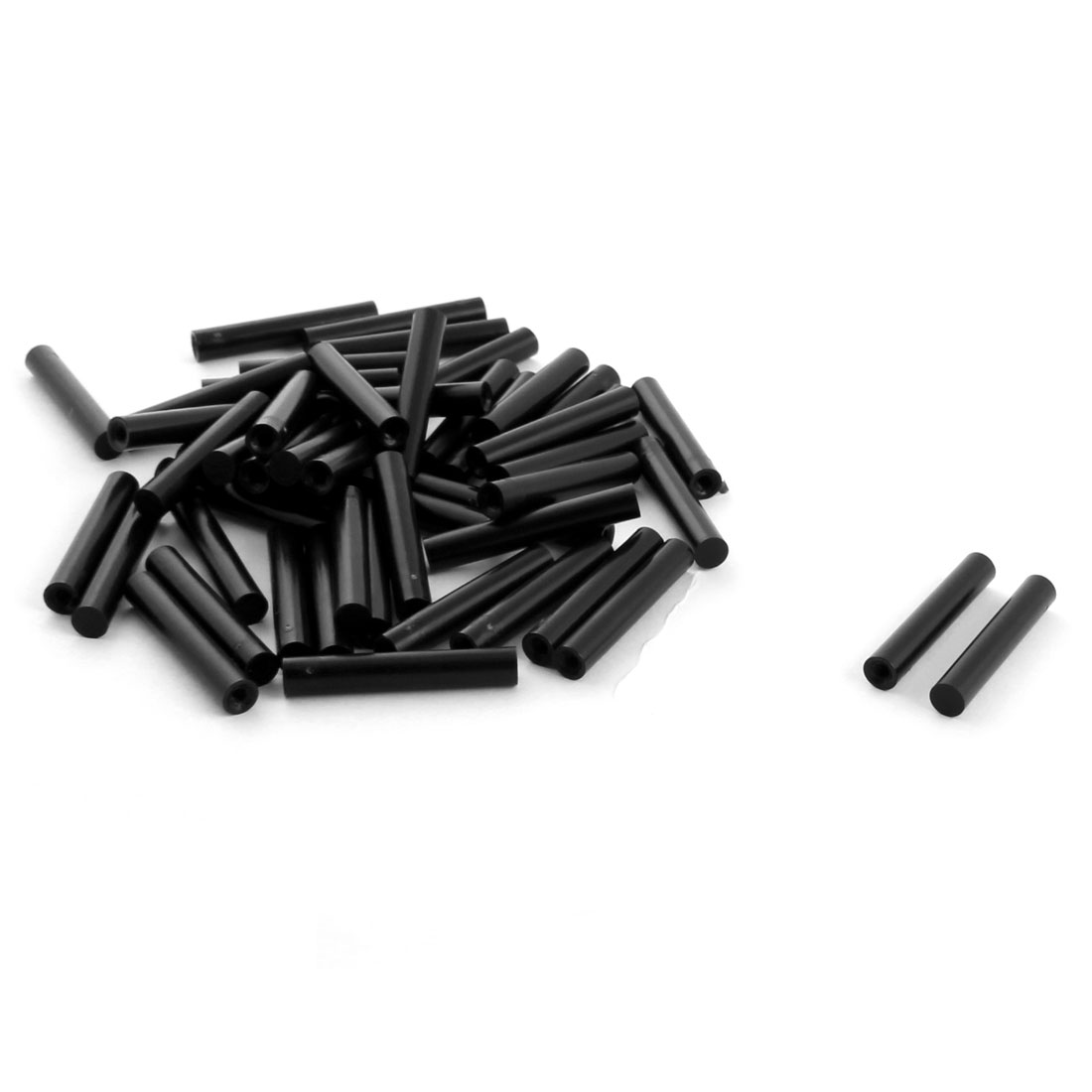 50Pcs 6x35mm PCB Test Flat End Fixture Hardware Parts Plate POM Stand Fixed Rod Black