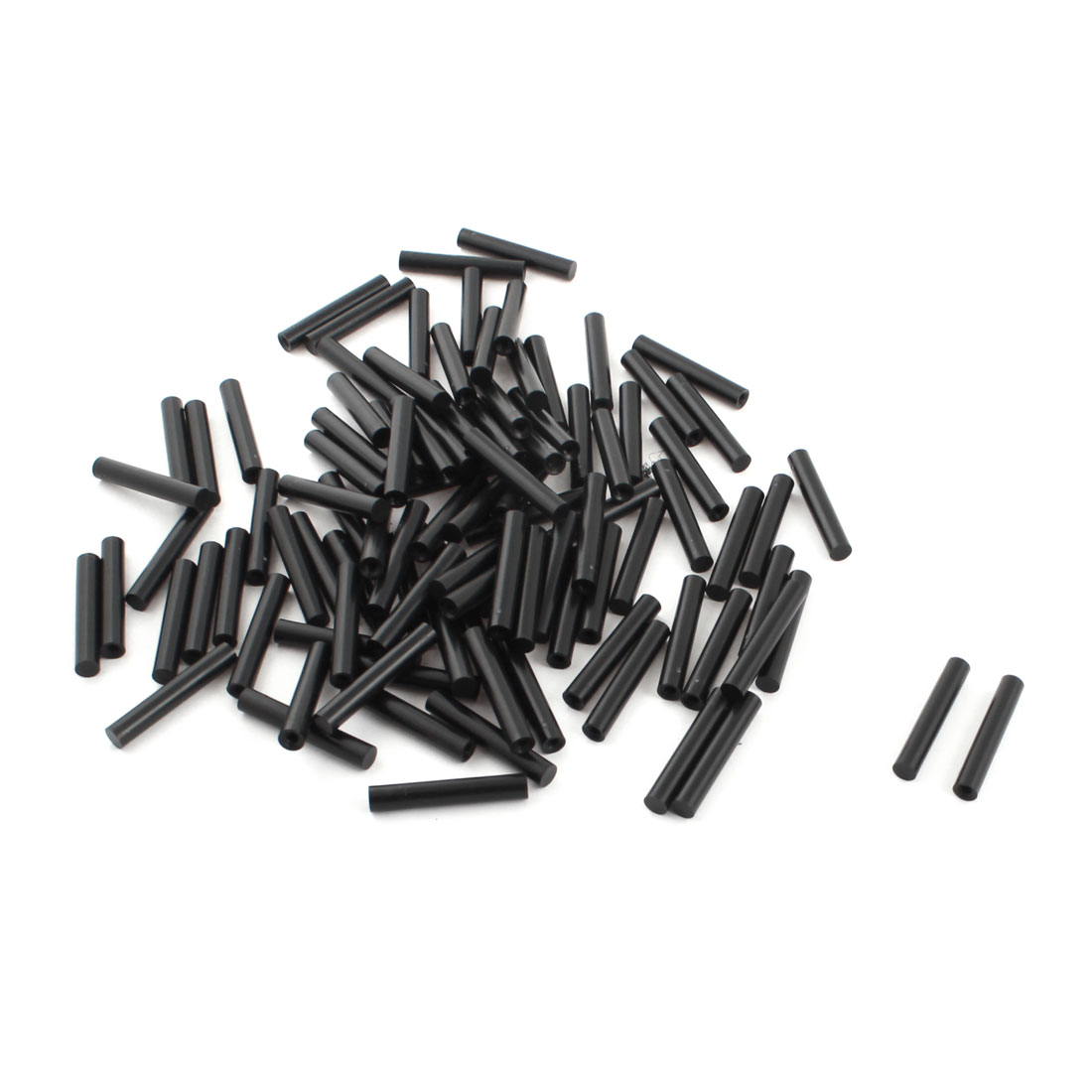 100Pcs 6x35mm PCB Test Flat End Fixture Hardware Parts Plate POM Stand Fixed Rod Black