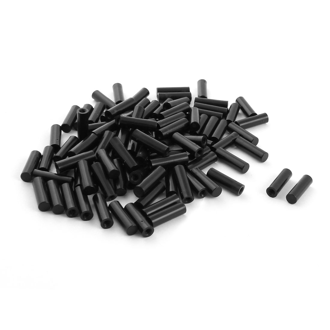 100Pcs 6x20mm PCB Test Flat End Fixture Hardware Parts Plate POM Stand Fixed Rod Black