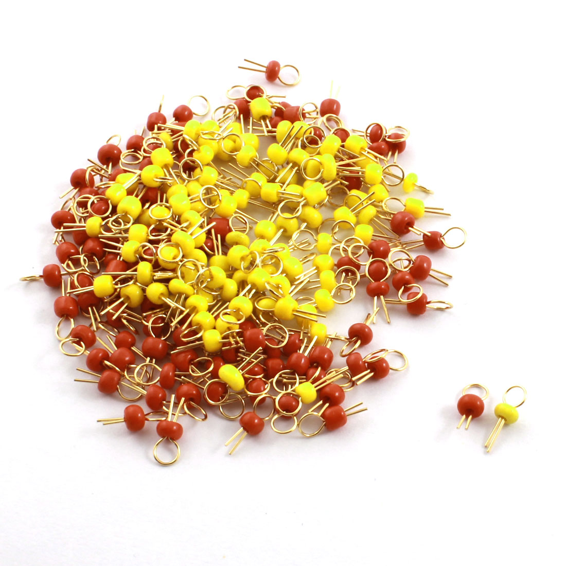 200 x PCB Board Breadboard DIY Electronic Test Endpoint Pin Red + Yellow