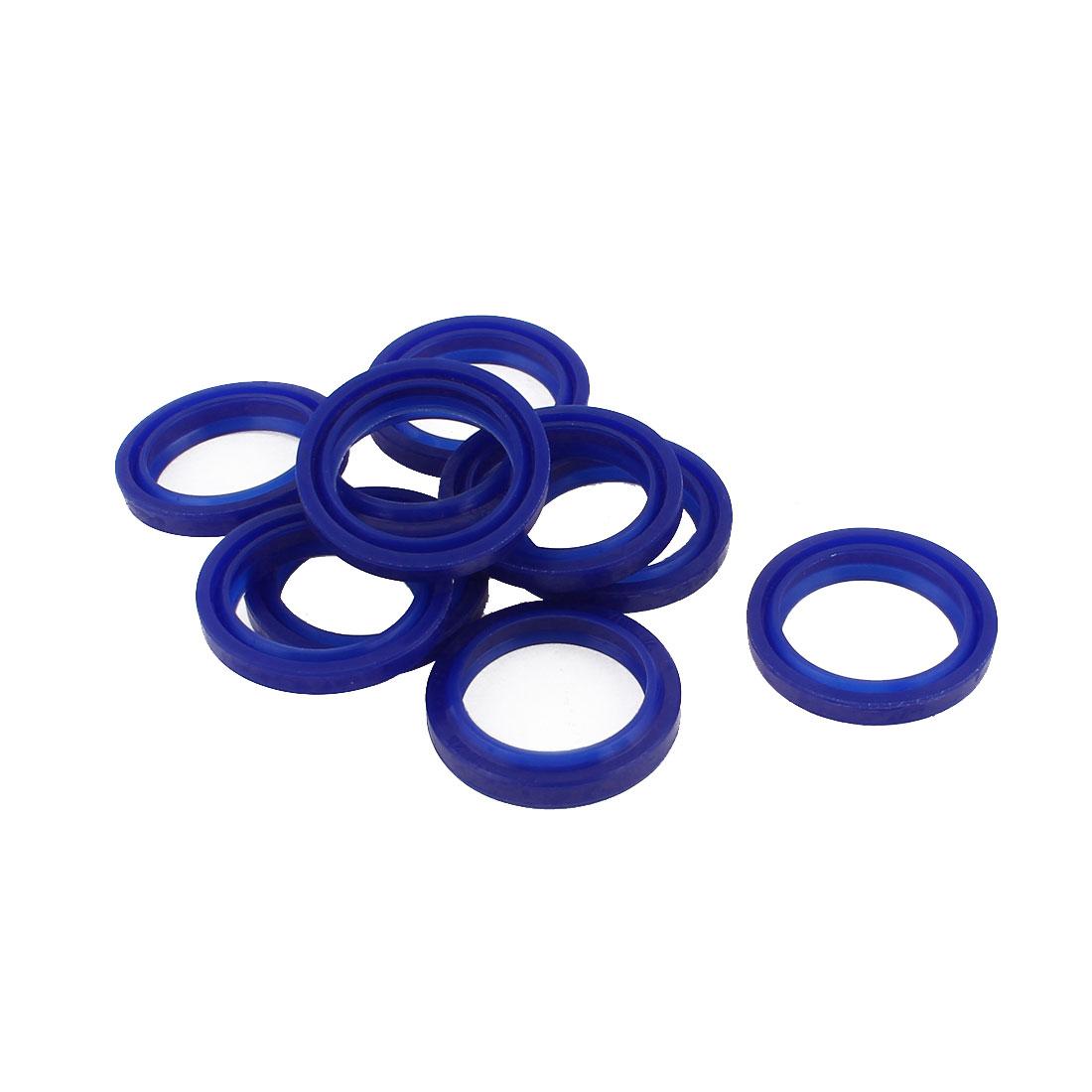 10 PCS Blue 33mm x 25mm x 6mm Grooving Rubber Skeleton Oil Sealed Seal Gasket