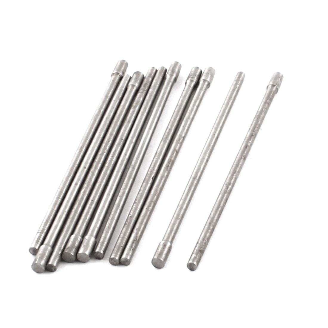 10pcs 2mm Tip Steel Straight Ejector Pin Punching Punches Silver Tone