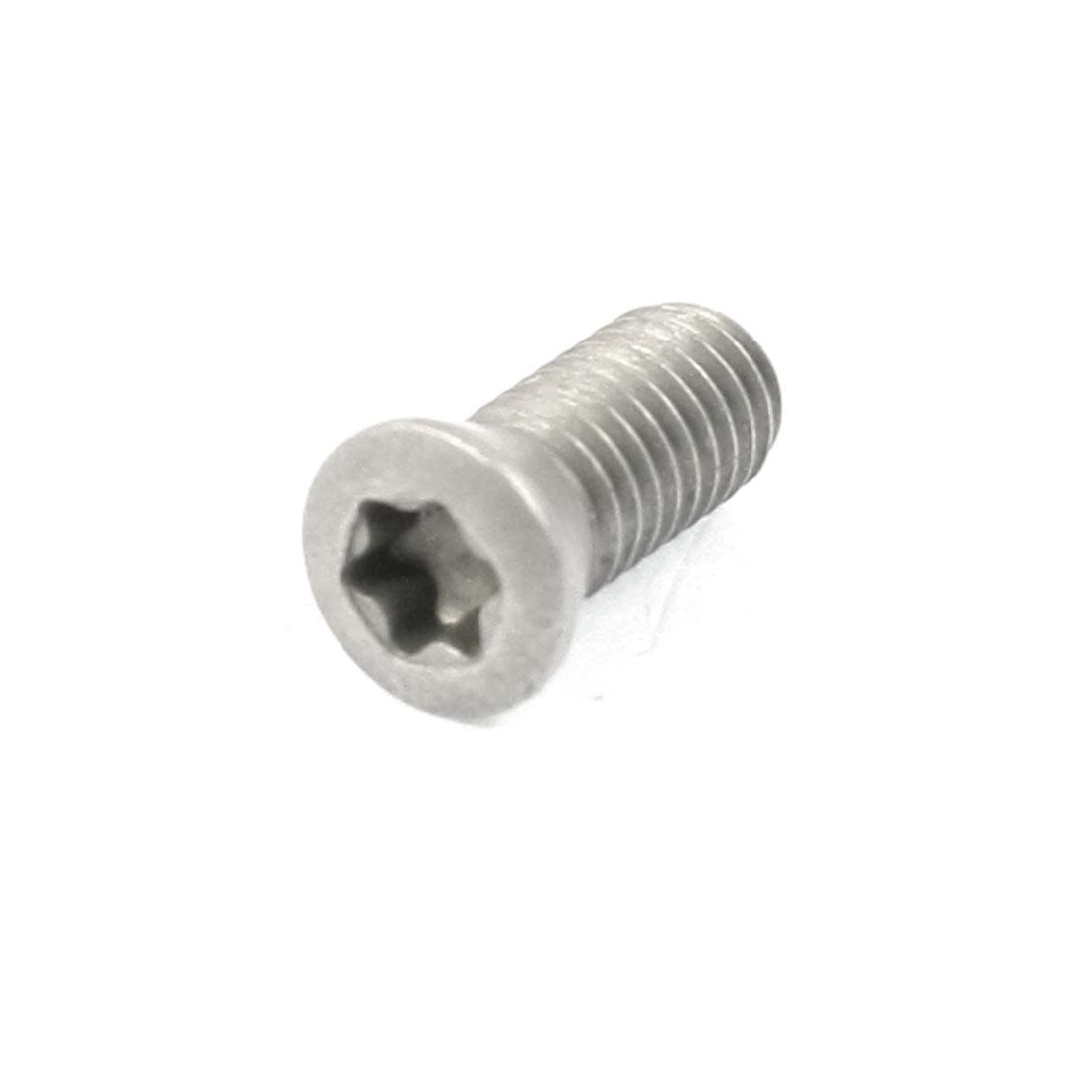 M5x12mm Insert Torx Head Socket Self Tapping Screw Bolt Dark Gray