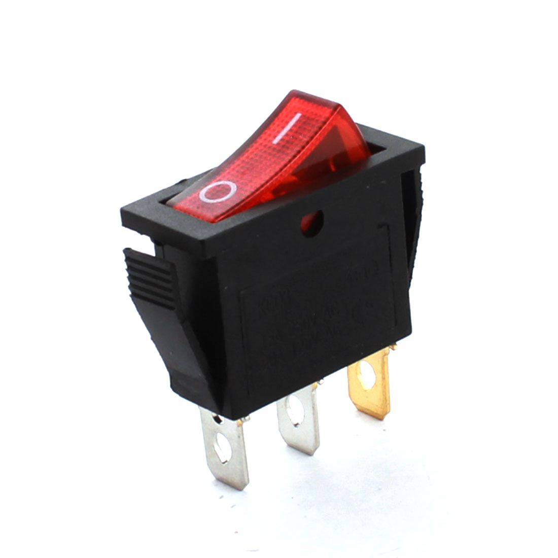 Red Light Two Positions AC 250V 15A AC125V 20A SPST Panel Mounting Power Boat Rocker Switch