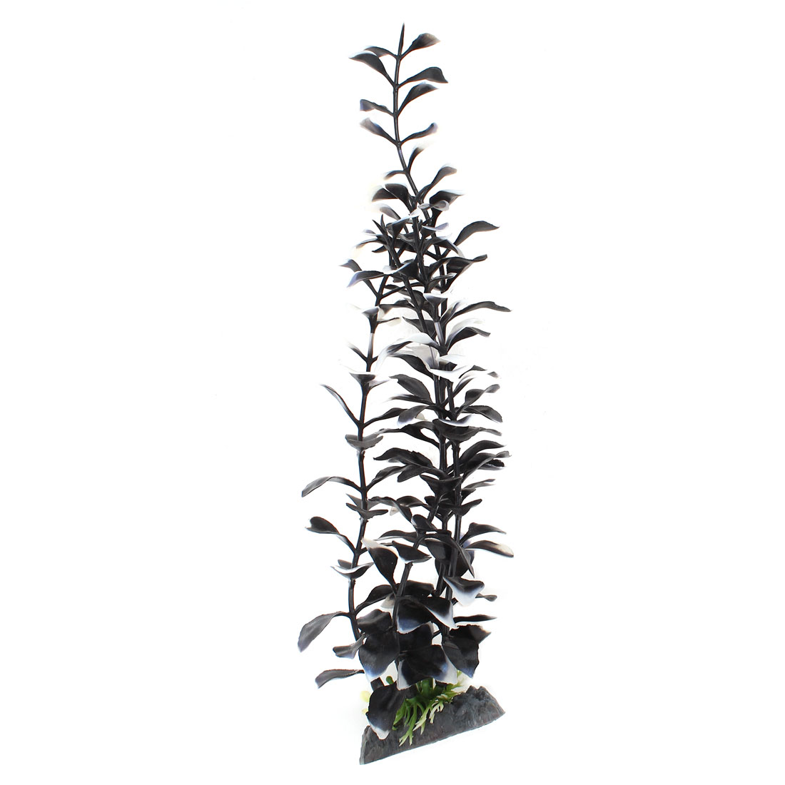 "11.4"" Height Black White Plastic Emulation Underwater Plants Ornament for Aquarium"