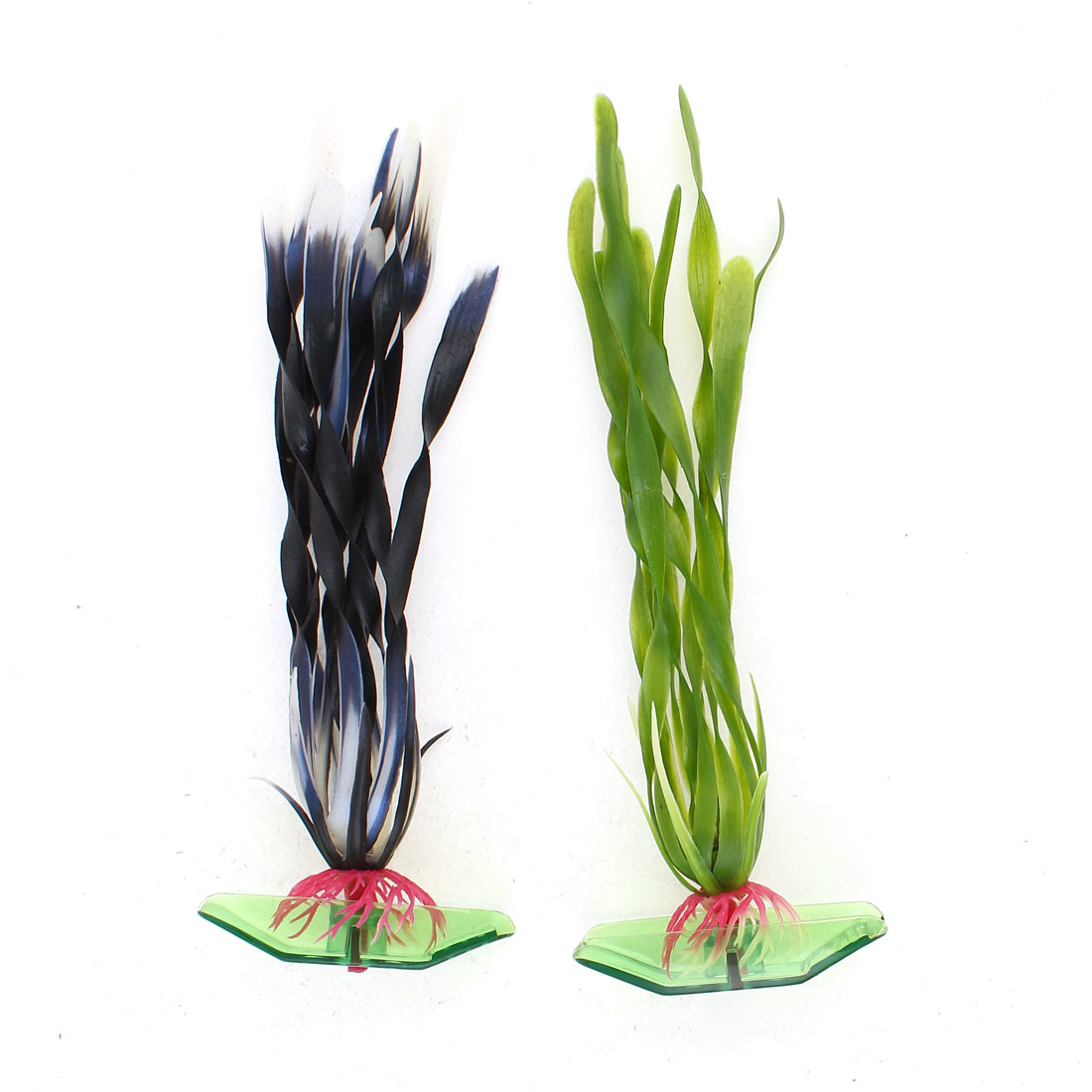 "2 PCS 6.9"" High Green Plastic Emulation Underwater Plants for Aquarium Ornament"