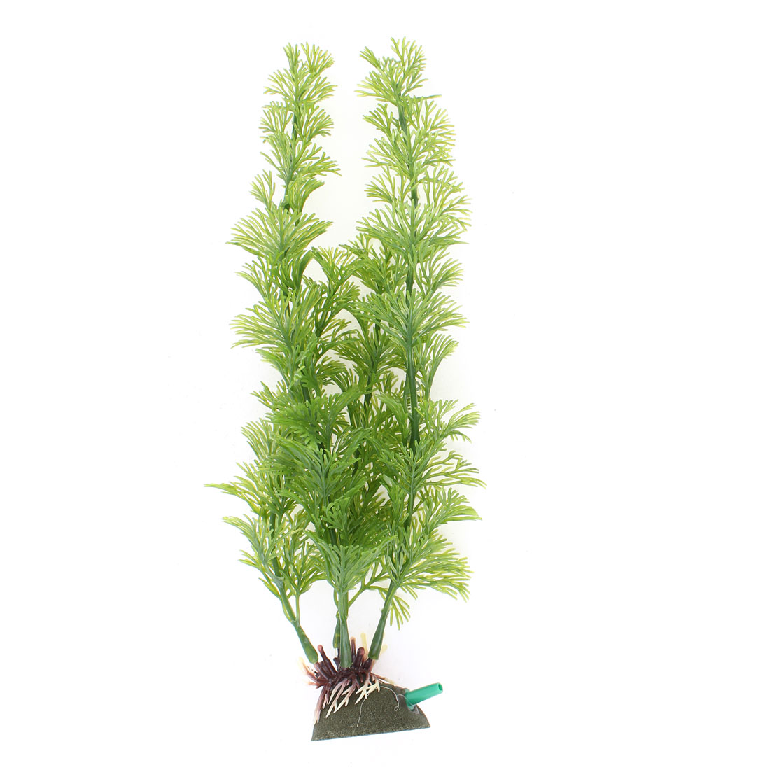 "10.8"" Height Green Emulation Aquatic Grass Plants Air Stone Aquarium Decor"