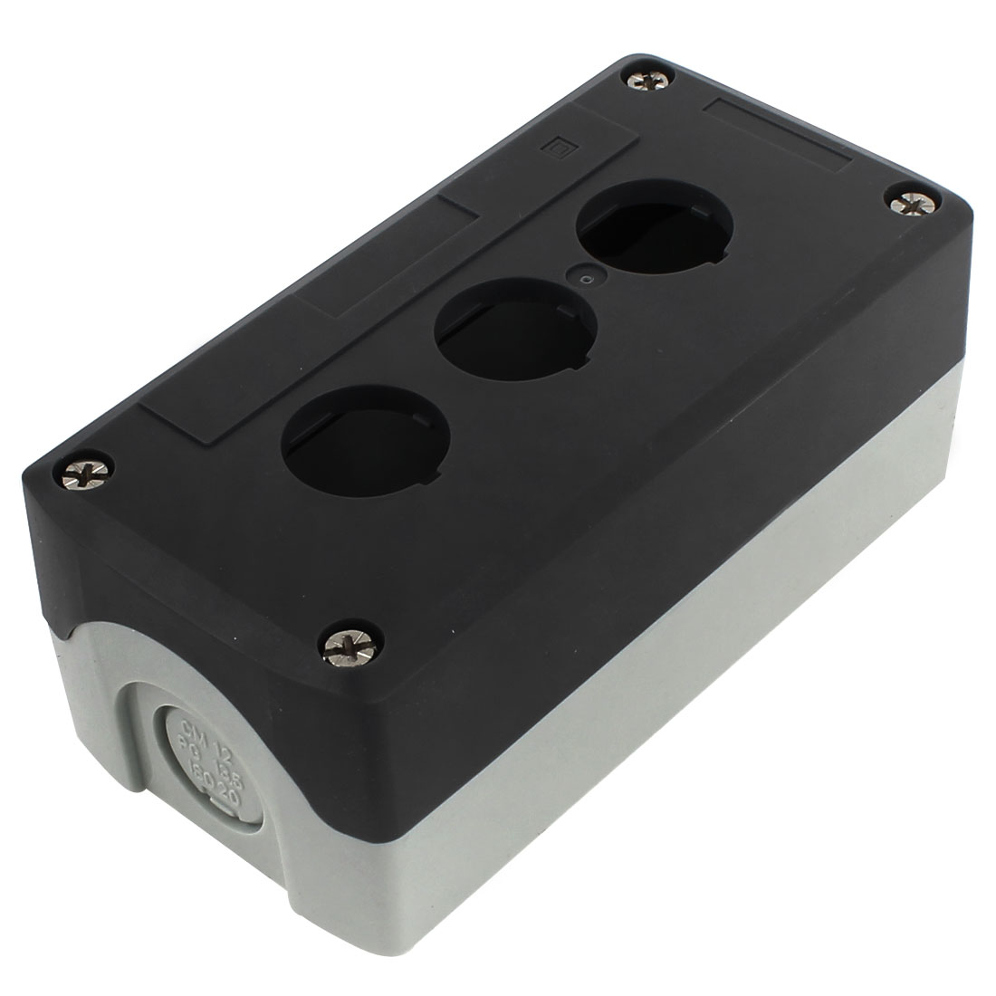 137mm x 68mm x 50mm Waterproof Plastic 3 Button Hole Junction Box Case