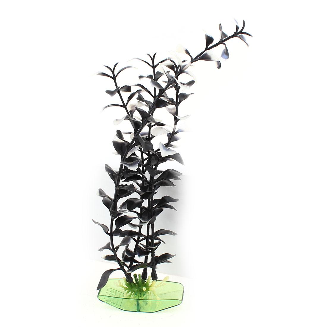 """10.8"""" High Black White Plastic Emulation Underwater Plants for Aquarium Decor"""