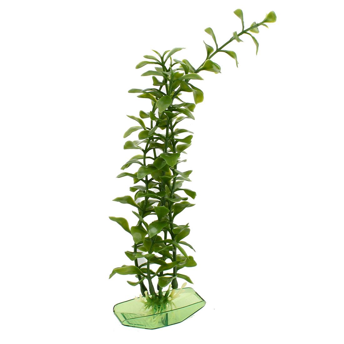 """11.4"""" Height Green Plastic Emulation Underwater Plants for Aquarium Ornament"""