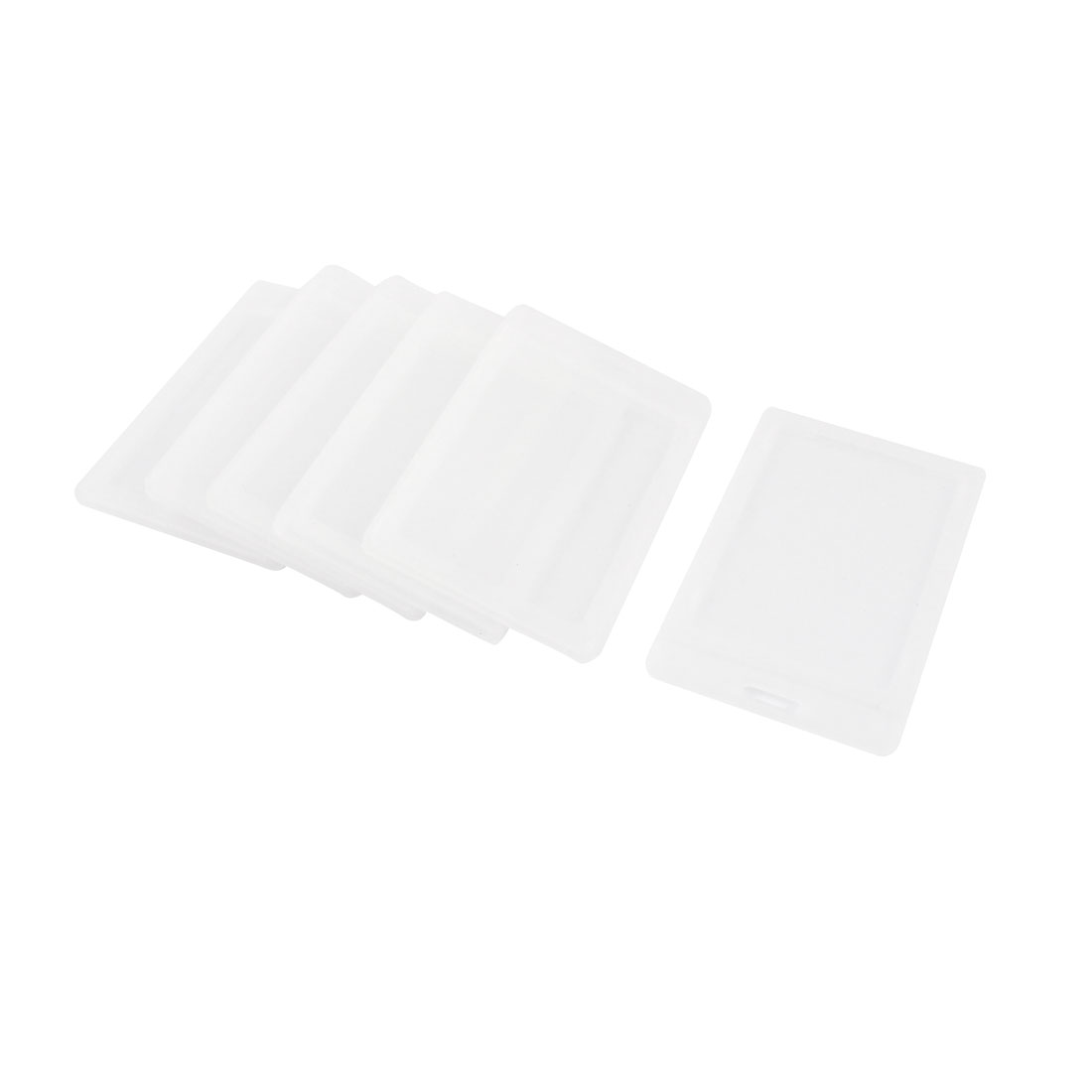 6pcs Clear Plastic Vertical Two Cards ID Card Badge Holder 54mm x 90mm