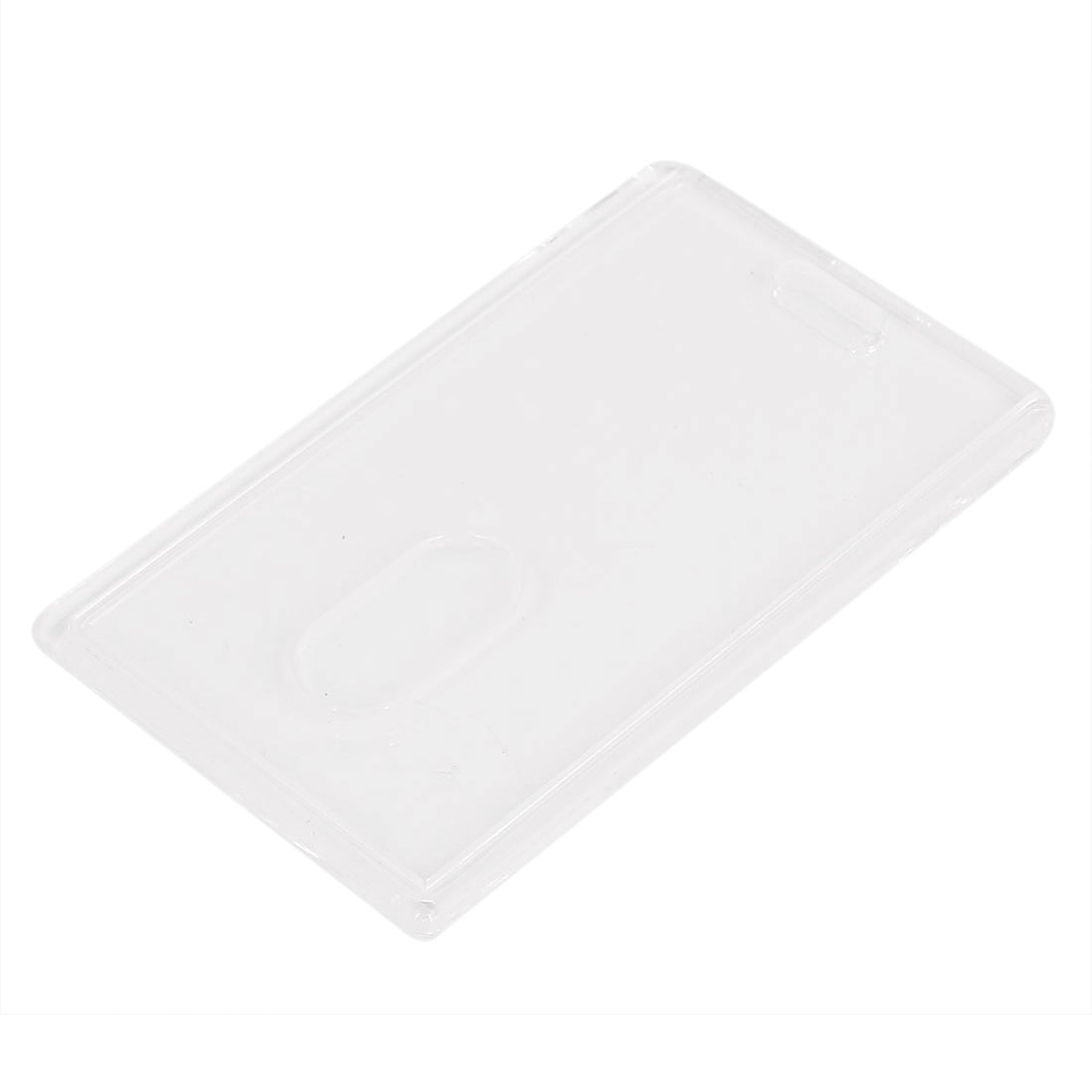 Plastic Vertical School Work 2 Card ID Holder Attachment Top Clear 54mm x 85mm