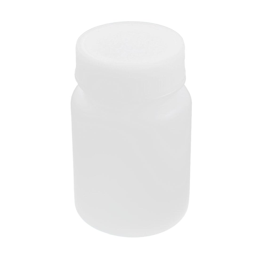 68mL Capacity Chemical Storage Graduated White Plastic Lab Bottle