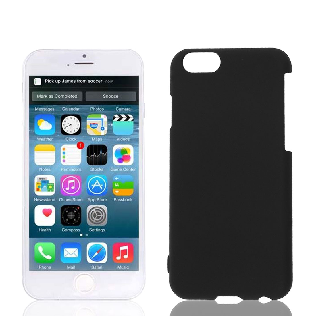 Black Hard Plastic Back Cover Case Protector for Apple iPhone 6 6G 6th