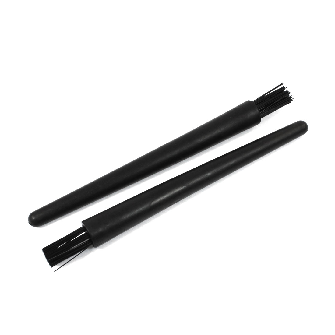 2pcs 18mm x 8mm Black Plastic Round Handle Anti Static ESD Brush