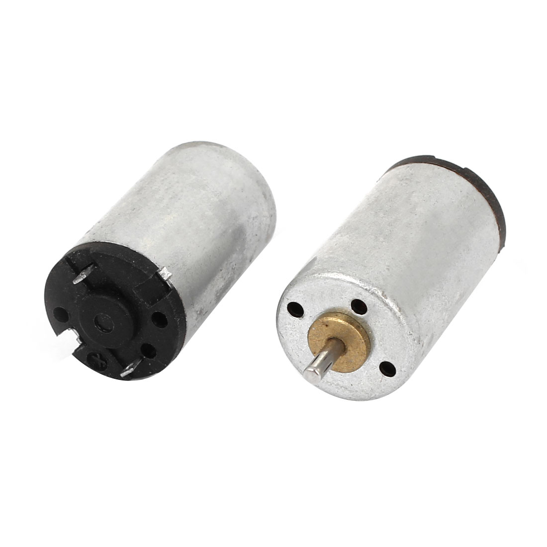 2pcs DC 1.25-3.7V 22000RPM 2 Terminal 1.5mm Shaft Cylinder DC Motor for RC Toy