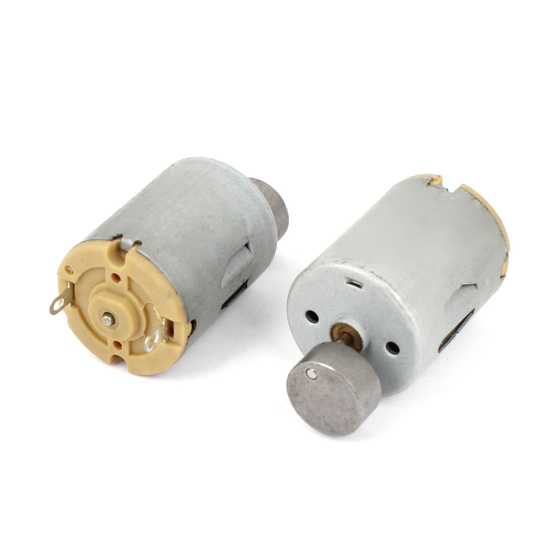 2pcs 12500 RPM Magnetic Micro Massager Motor Gray DC 3V-9V