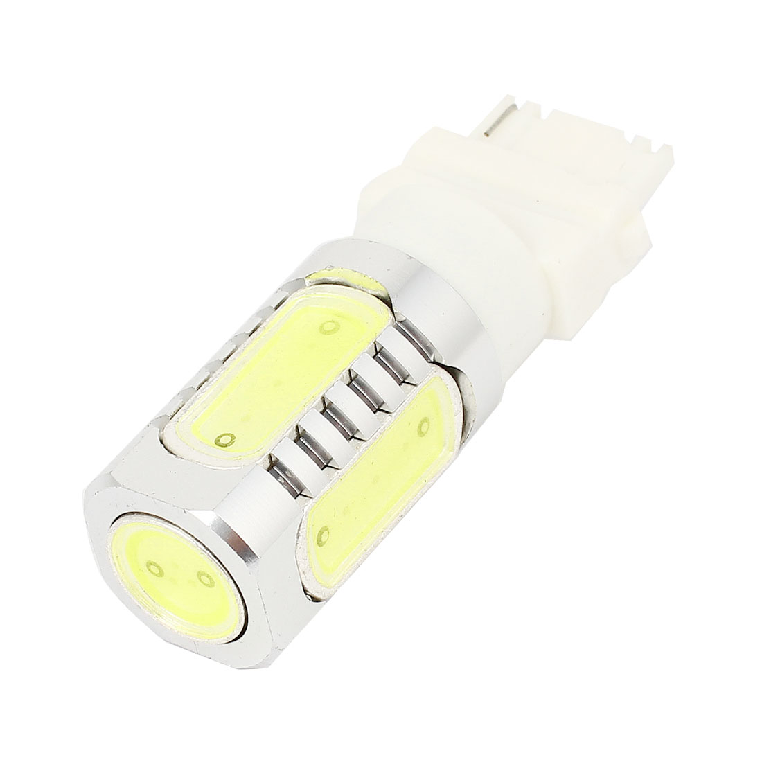 White 3156 7.5W 5 LED Lens Car Reversing Braking Signal Light Turning Lamp 12V