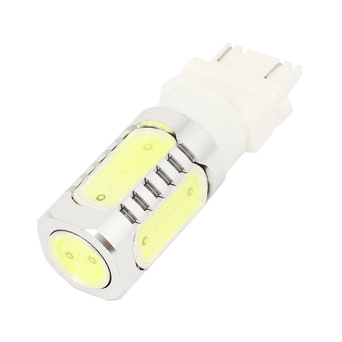 Vehicle Car 3157 5 White SMD LED Lens 7.5W Brake Stop Lamp Light DC 12V