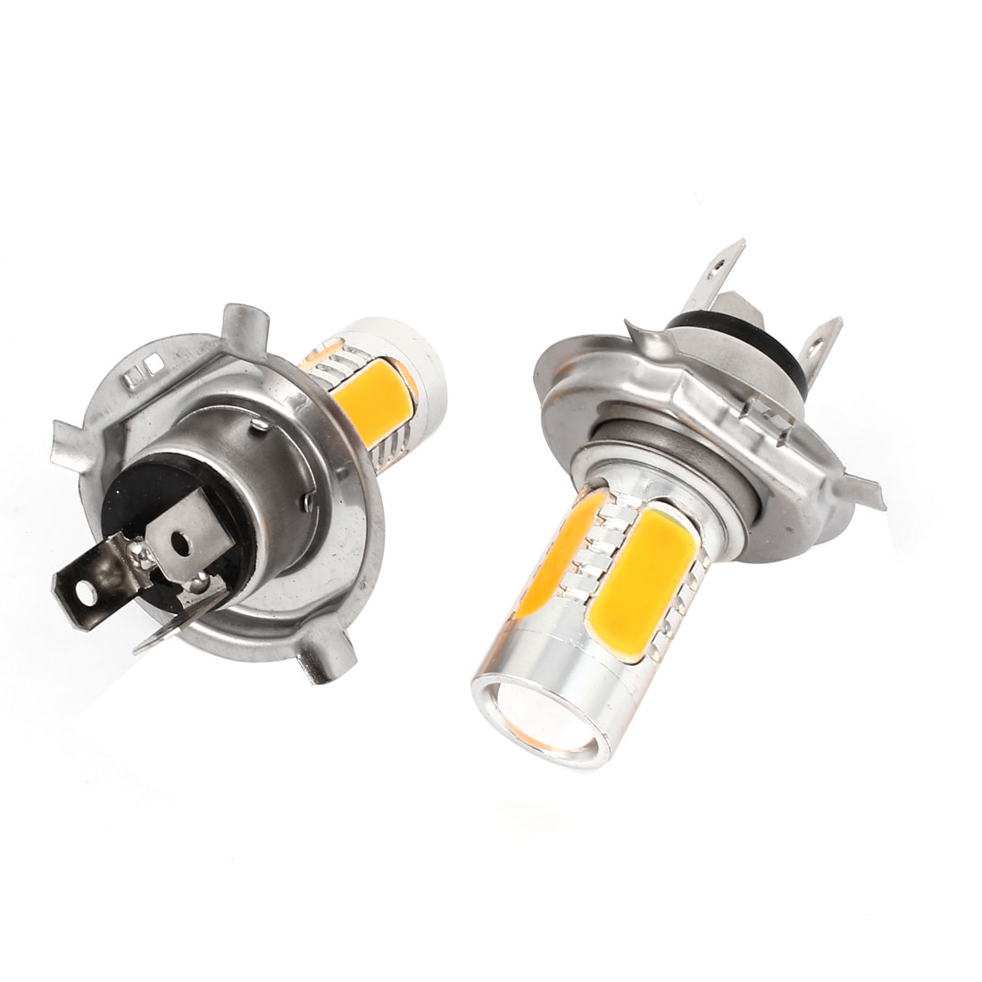 Pair 5 SMD LED Lens H4 DRL Daytime Driving Light Foglamp Lamp Amber 7.5W