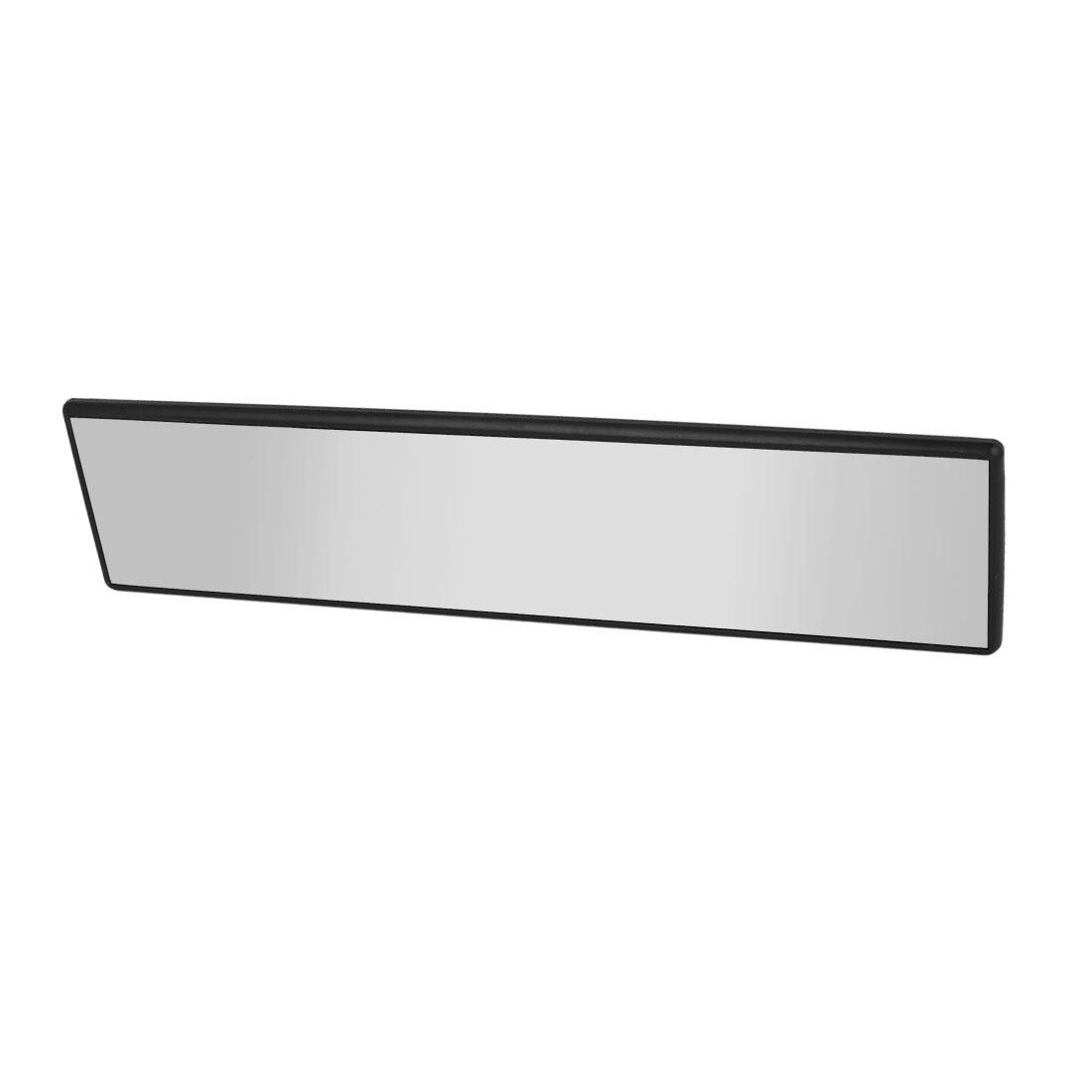 300mm x 70mm Flat Clip on Auto Car Interior Rear View Mirror Black